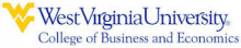 West Virginia University - College of Business and Economics